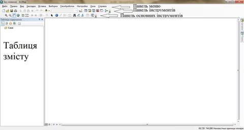 Інтерфейс ArcMap 10.2