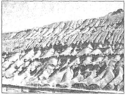 Лінійна ерозія в районі Гармсару, 65 км на схід від Тегерана, Іран